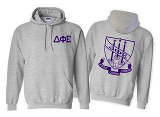 Delta Phi Epsilon World Famous Crest - Shield Hooded Sweatshirt- $35!