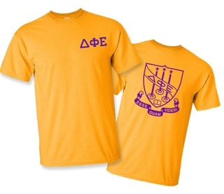 Delta Phi Epsilon World Famous Greek Crest T-Shirts - $16.95!- MADE FAST!