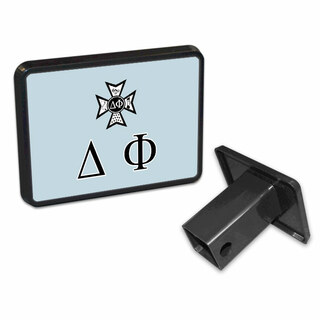 Delta Phi Flag Trailer Hitch Cover
