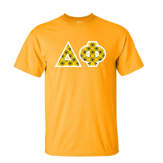 Delta Phi Fraternity Crest - Shield Twill Letter Tee