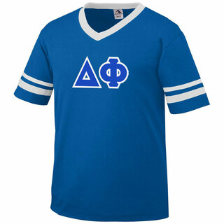 DISCOUNT-Delta Phi Jersey With Greek Applique Letters