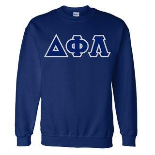 Delta Phi Lambda Lettered Crewneck Sweatshirt