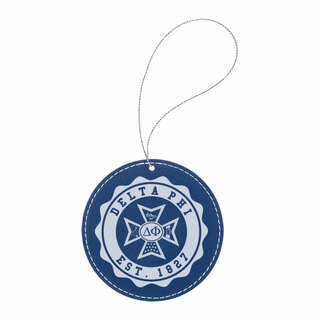Delta Phi Leatherette Crest Holiday Ornament