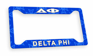 Delta Phi Custom License Plate Frame