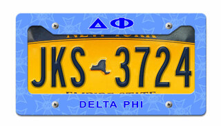 Delta Phi License Plate Frame