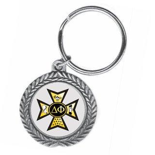 Delta Phi Pewter Key Ring