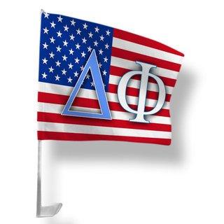 Delta Phi USA Car Flag
