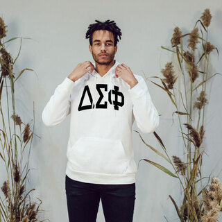 Delta Sigma Phi Arched Greek Letter Hooded Sweatshirt