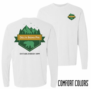 Delta Sigma Phi Big Bear Long Sleeve T-shirt - Comfort Colors