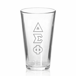 Delta Sigma Phi Big Letter Mixing Glass