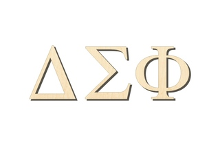 Delta Sigma Phi Big Wooden Greek Letters