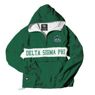 Delta Sigma Phi Charles River Custom Stripe Greek Pullover Anorak