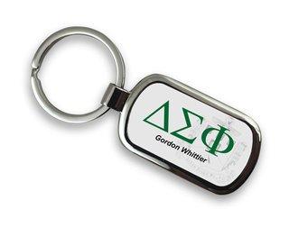Delta Sigma Phi Chrome Crest Key Chain