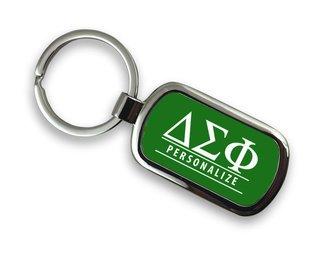 Delta Sigma Phi Chrome Custom Keychain