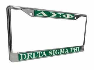 Delta Sigma Phi Chrome License Plate Frames