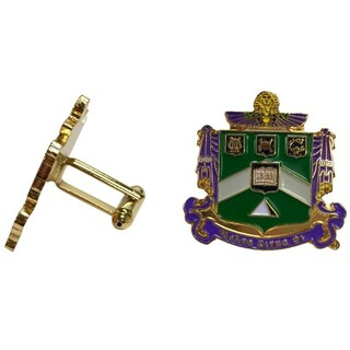 Delta Sigma Phi Color Crest - Shield Cuff links-ON SALE!