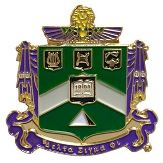 Delta Sigma Phi Color Crest - Shield Pins