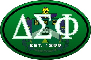 Delta Sigma Phi Color Oval Decal