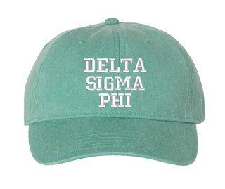Delta Sigma Phi Comfort Colors Pigment Dyed Baseball Cap
