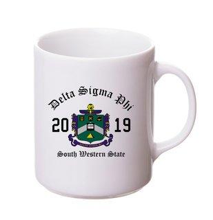 Delta Sigma Phi Crest & Year Ceramic Mug