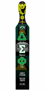 Delta Sigma Phi Custom Full Color Paddle