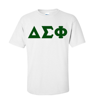 Delta Sigma Phi Discount Twill Lettered Tee