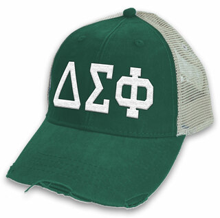 Delta Sigma Phi Distressed Trucker Hat