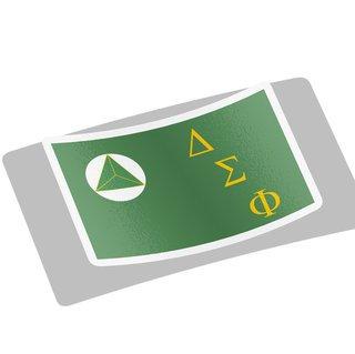 Delta Sigma Phi Flag Decal Sticker