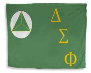 Delta Sigma Phi Flag Giant Velveteen Blanket