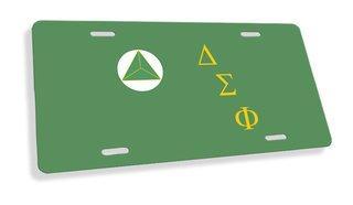 Delta Sigma Phi Flag License Cover