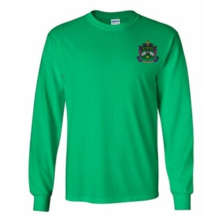 DISCOUNT-Delta Sigma Phi Fraternity Crest - Shield Longsleeve Tee