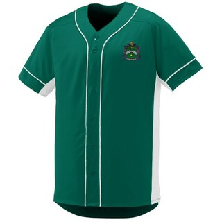 DISCOUNT-Delta Sigma Phi Fraternity Crest - Shield Slugger Baseball Jersey