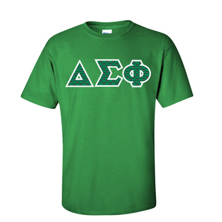 Delta Sigma Phi Fraternity Crest - Shield Twill Letter Tee