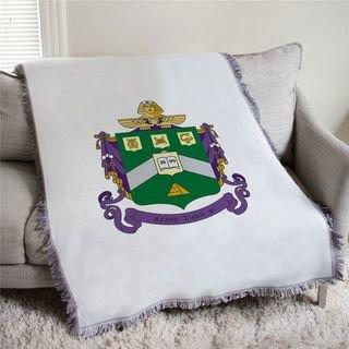 Delta Sigma Phi Full Color Crest Afghan Blanket Throw