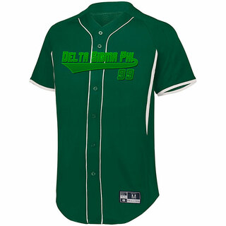 Delta Sigma Phi Game 7 Full-Button Baseball Jersey