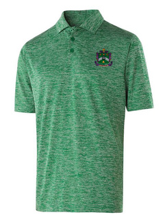 Delta Sigma Phi Greek Crest Emblem Electrify Polo