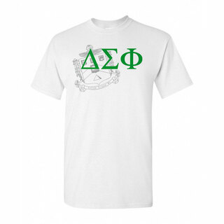 Delta Sigma Phi Greek Crest - Shield T-Shirt