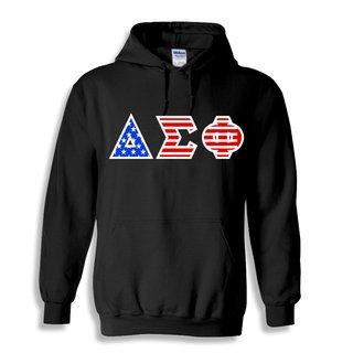 Delta Sigma Phi Greek Letter American Flag Hoodie