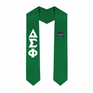 Delta Sigma Phi Greek Lettered Graduation Sash Stole