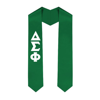 Delta Sigma Phi Greek Lettered Graduation Sash Stole - Best Value