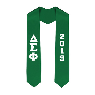 Delta Sigma Phi Greek Lettered Graduation Sash Stole With Year - Best Value