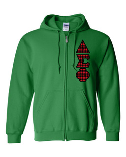"Delta Sigma Phi Heavy Full-Zip Hooded Sweatshirt - 3"" Letters!"