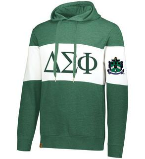 Delta Sigma Phi Ivy League Hoodie W Crest On Left Sleeve