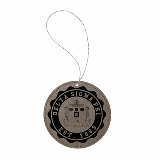 Delta Sigma Phi Leatherette Crest Holiday Ornament