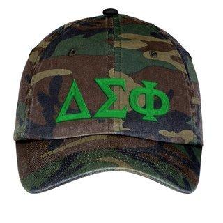 Delta Sigma Phi Lettered Camouflage Hat