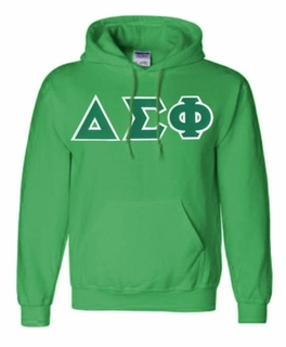 Delta Sigma Phi Lettered Greek Hoodie- MADE FAST!