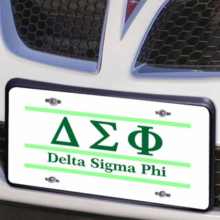 Delta Sigma Phi Lettered Lines License Cover