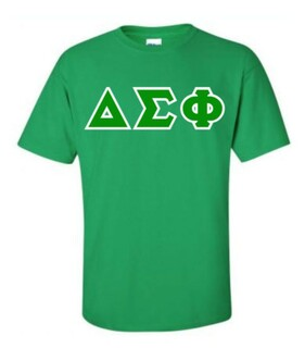 Delta Sigma Phi Sewn Lettered T-Shirt
