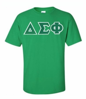 Delta Sigma Phi Lettered T-shirt - MADE FAST!