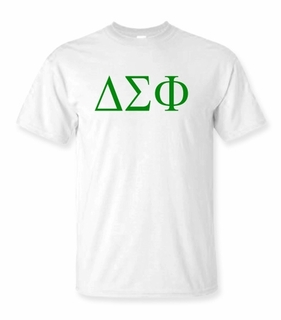 Delta Sigma Phi Lettered Tee - $9.95! - MADE FAST!